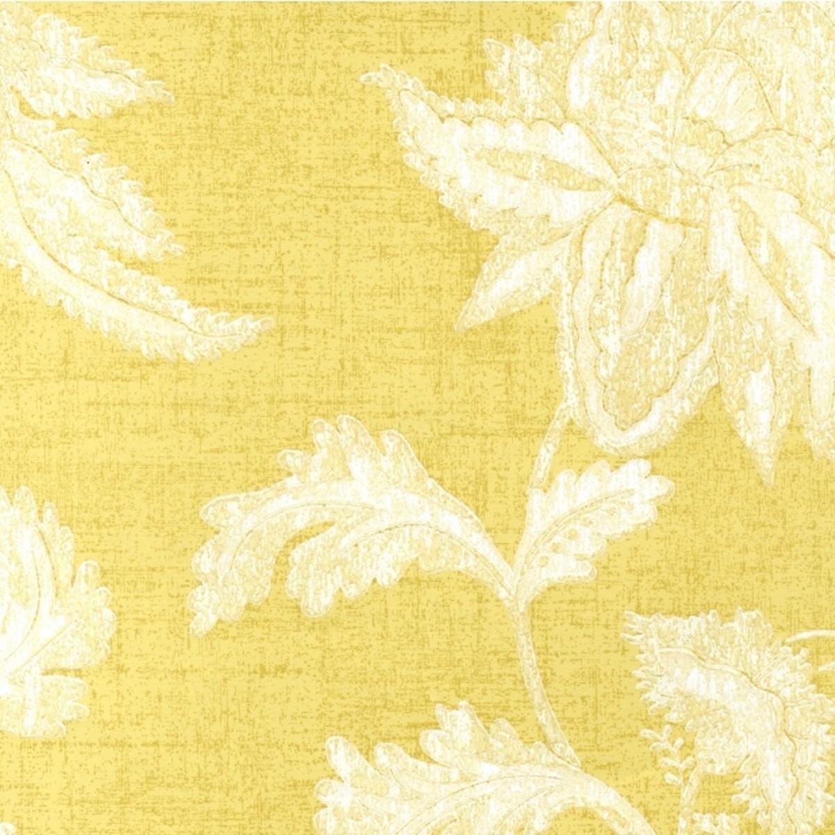 Обои бумажные Ashford House Flowers Special Edition желтые 0.53 м WU0757