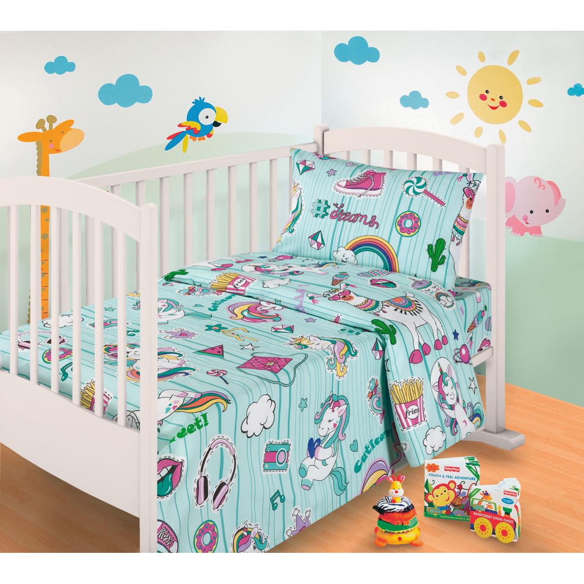Комплект постельного белья MILANIKA Мечта в кроватку бязь