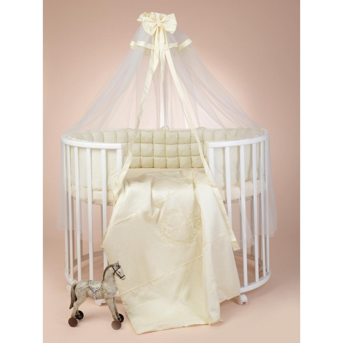 Комплект Постельного Белья Sweet Baby Bellezza В Кроватку Сатин 7 Предметов