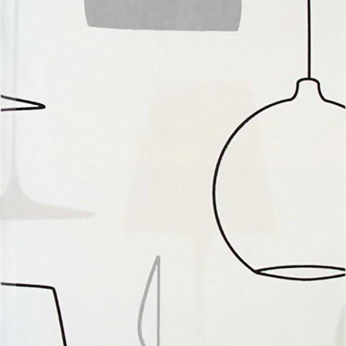 Обои флизелиновые Id-Art Lamps белые 0.53 м 7340-2