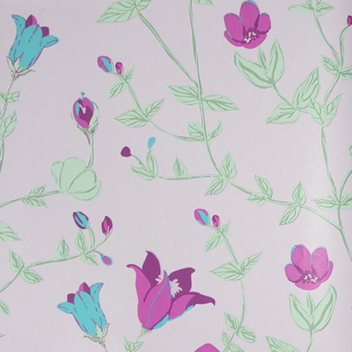 Обои флизелиновые Id-Art Vintage Chic фиолетовые 0.53 м V7235-4