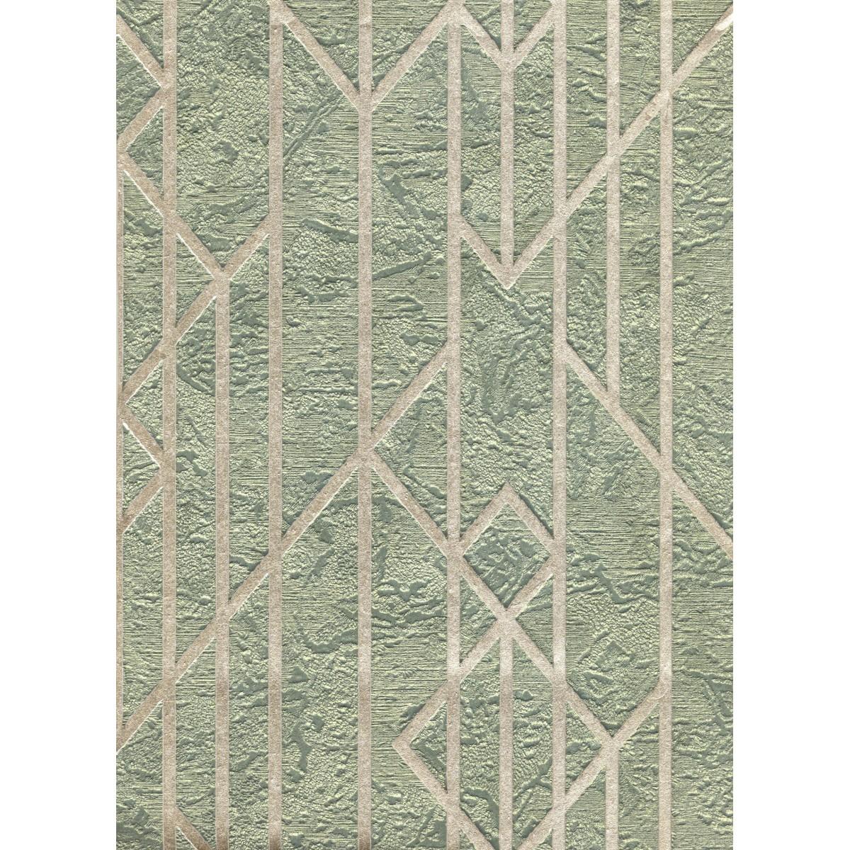 Обои флизелиновые Euro Decor Maximus зеленые 1.06 м 3729-6