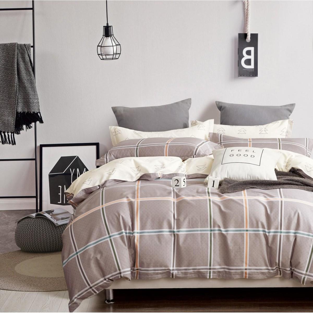 Комплект постельного белья Butterfly семейный сатин 70x70 см