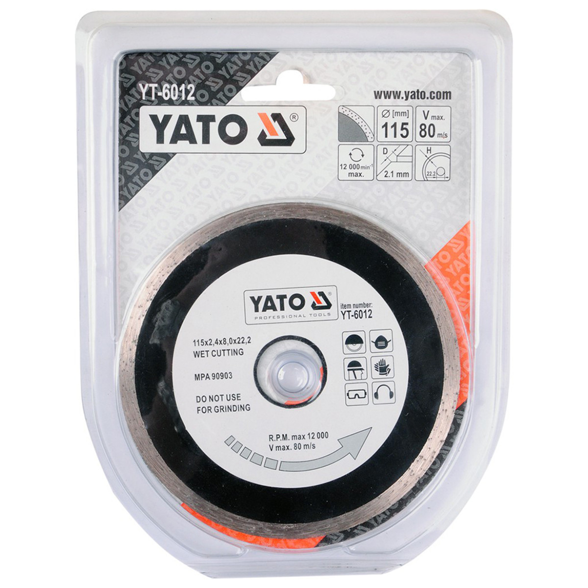 Диск Алмазный Отрезной Yato Yt-6012 115Мм