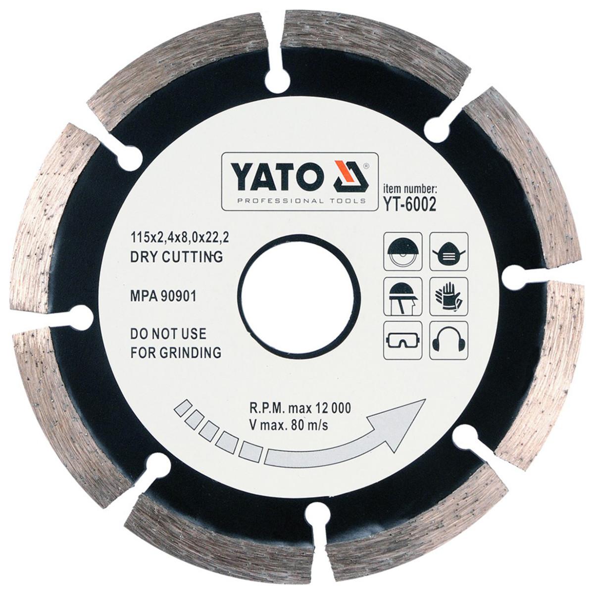 Диск Алмазный Отрезной Yato Yt-6002 115Мм Hs