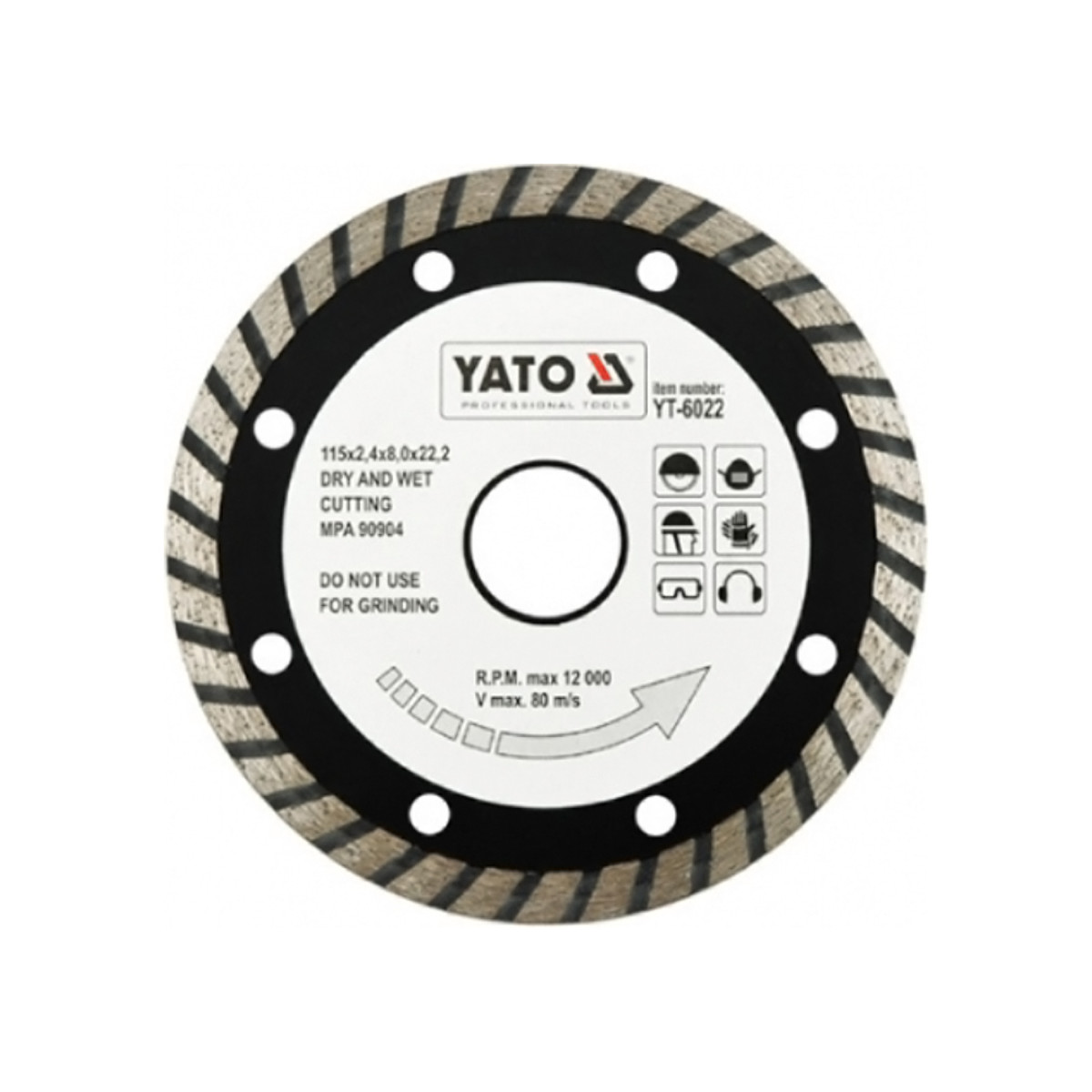 Диск Алмазный Отрезной Yato Yt-6022 115Мм Turbo
