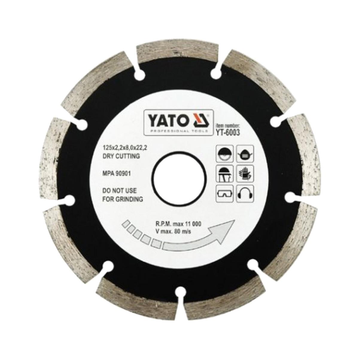 Диск Алмазный Отрезной Yato Yt-6003 125Мм Hs