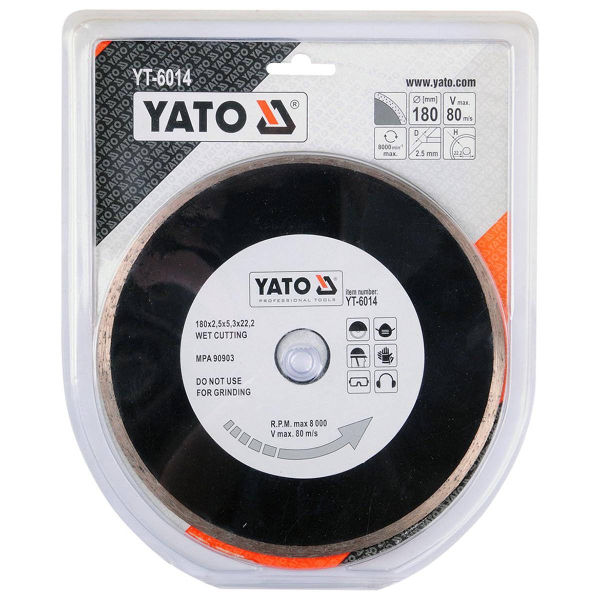 Диск Алмазный Отрезной Yato Yt-6014 180Мм