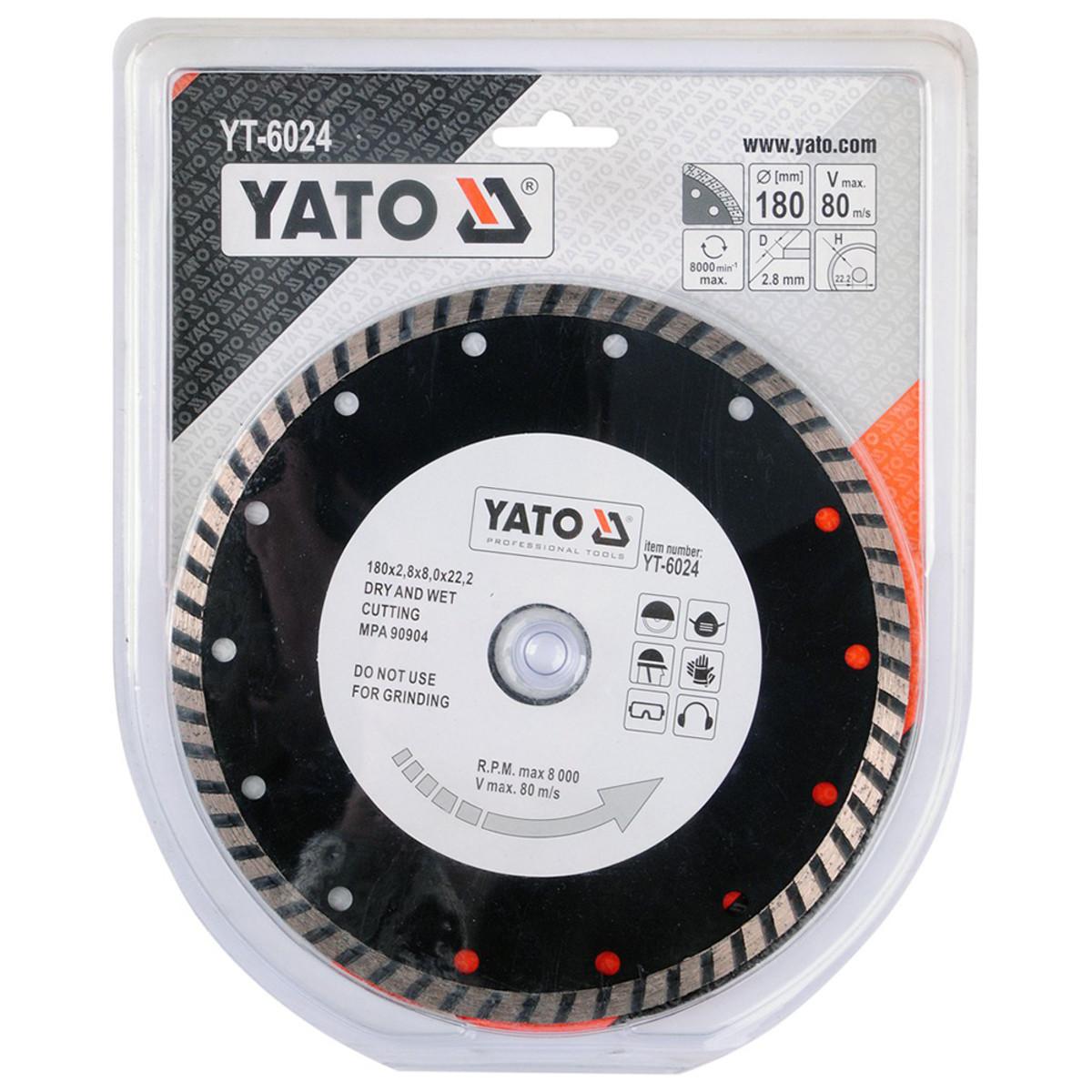 Диск Алмазный Отрезной Yato Yt-6024 180Мм Turbo