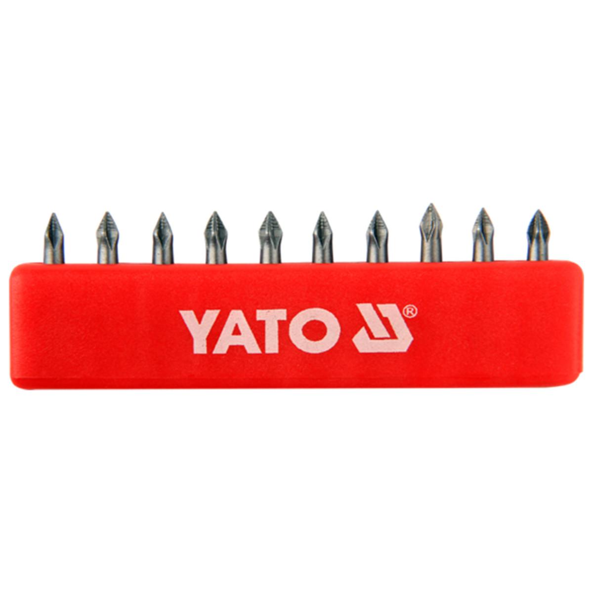 Набор бит Yato 1/4 10 предметов PH0 25 мм YT-0473