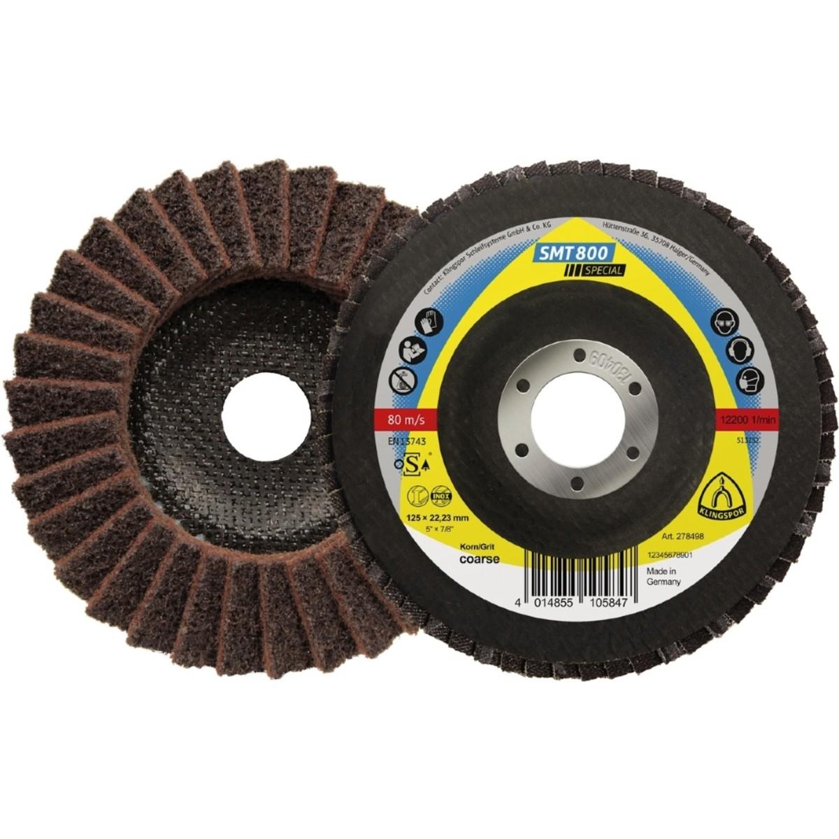 Лепестковый торцевой круг Klingspor Special SMT 800 нетканый P80 coarse 1 шт 278498 5 шт