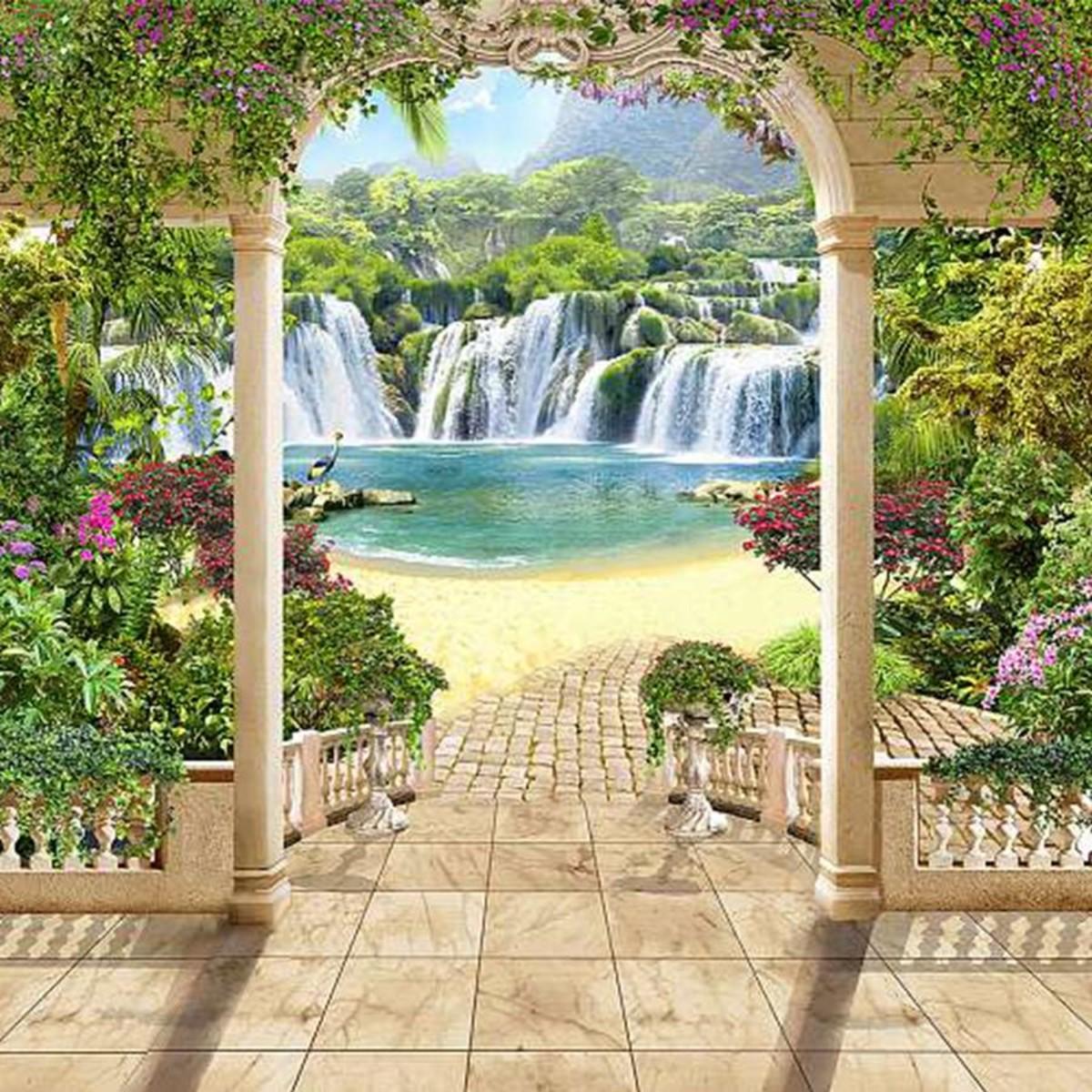 Фотообои Divino Decor Райские водопады K-023 300х270 см