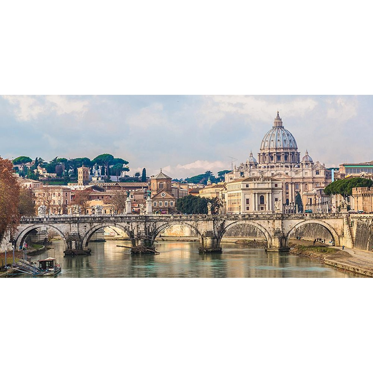 Фотообои Divino Decor Мост Сан-Анджело в Риме C-344 300х147 см