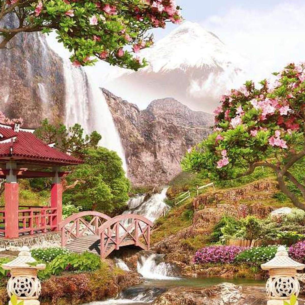 Фотообои Divino Decor Японский сад H-006 200х270 см