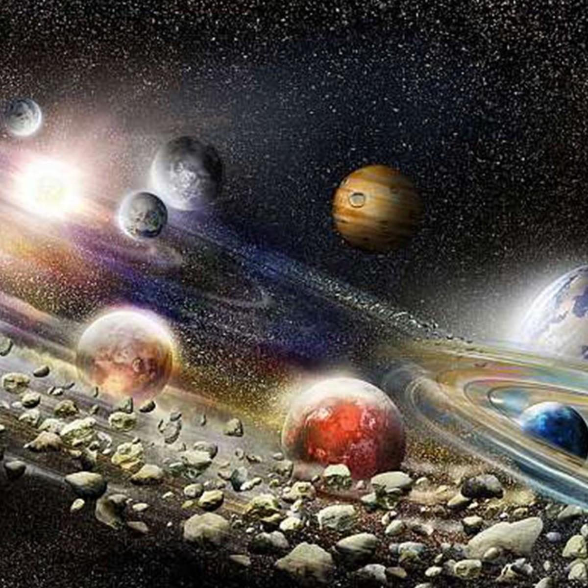 Фотообои Divino Decor Солнечная система L-091 200х100 см