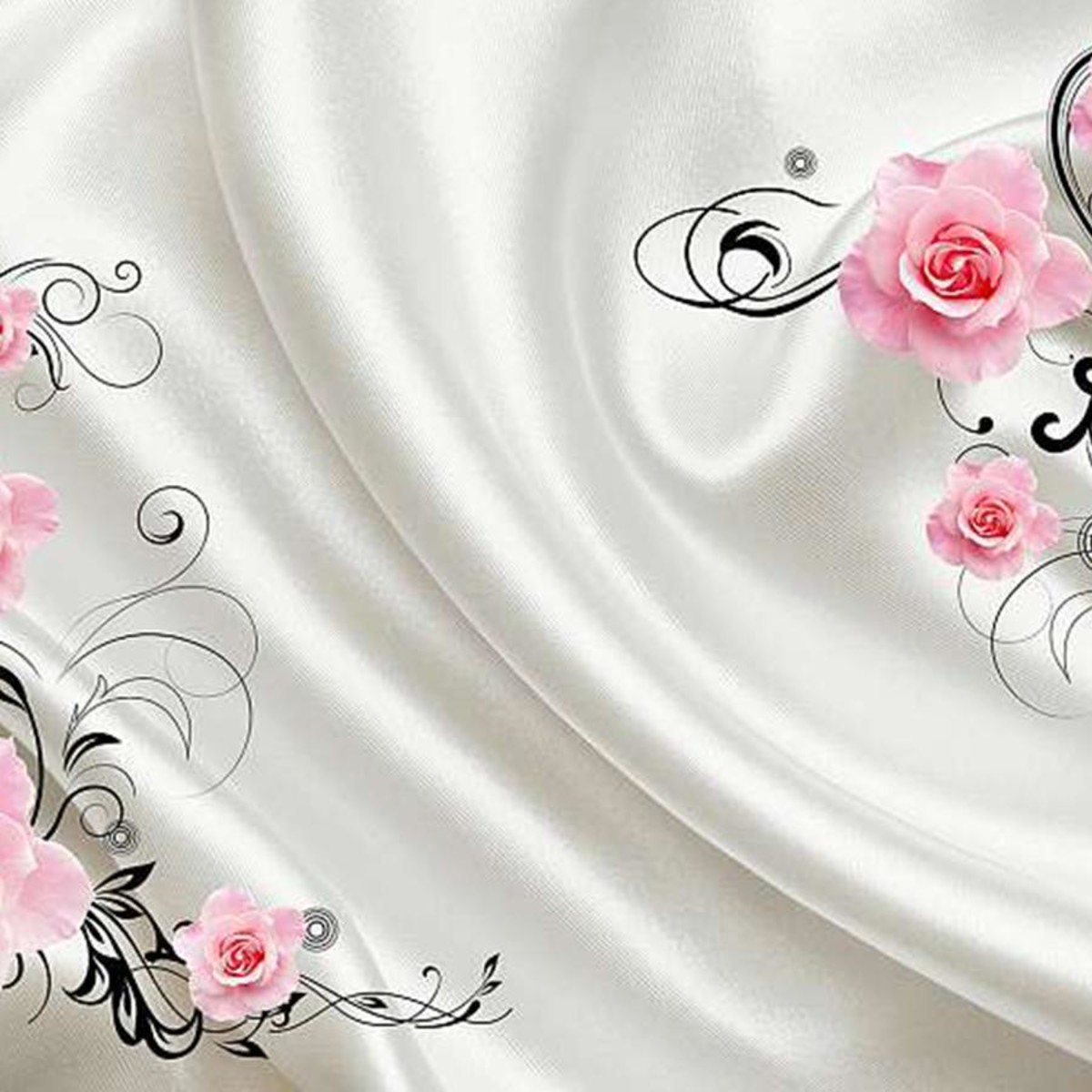 Фотообои Divino Decor Шелк и розы L-062 400х270 см