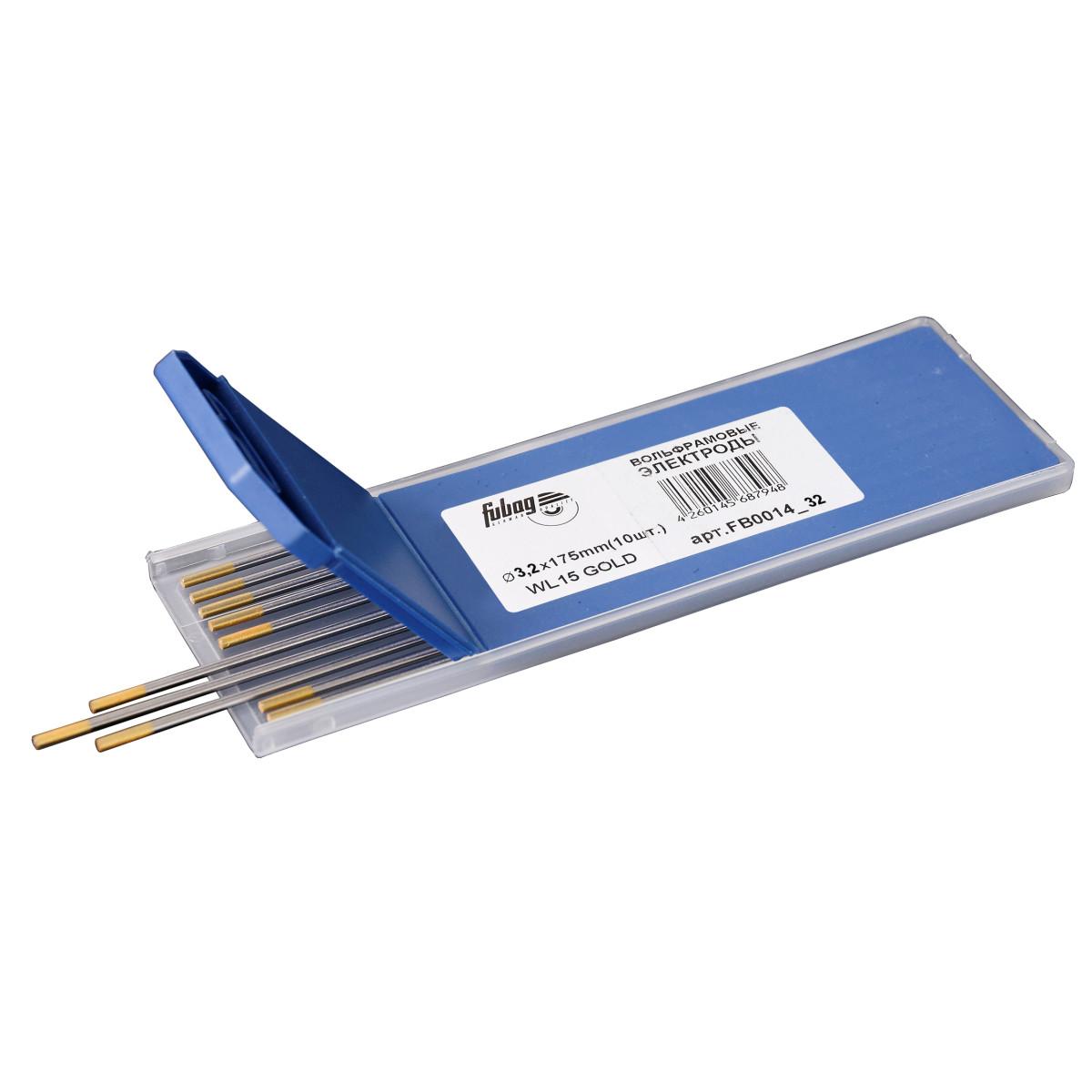 Вольфрамовые электроды Fubag D3.2x175мм (gold)_WL15 FB0014_32