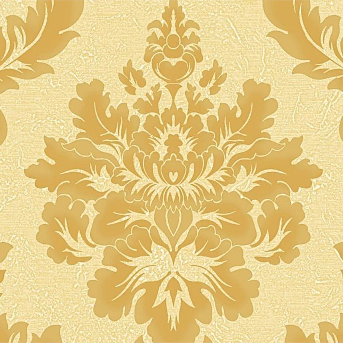 Обои виниловые Gaenari желтые 1.06 м 88275-2