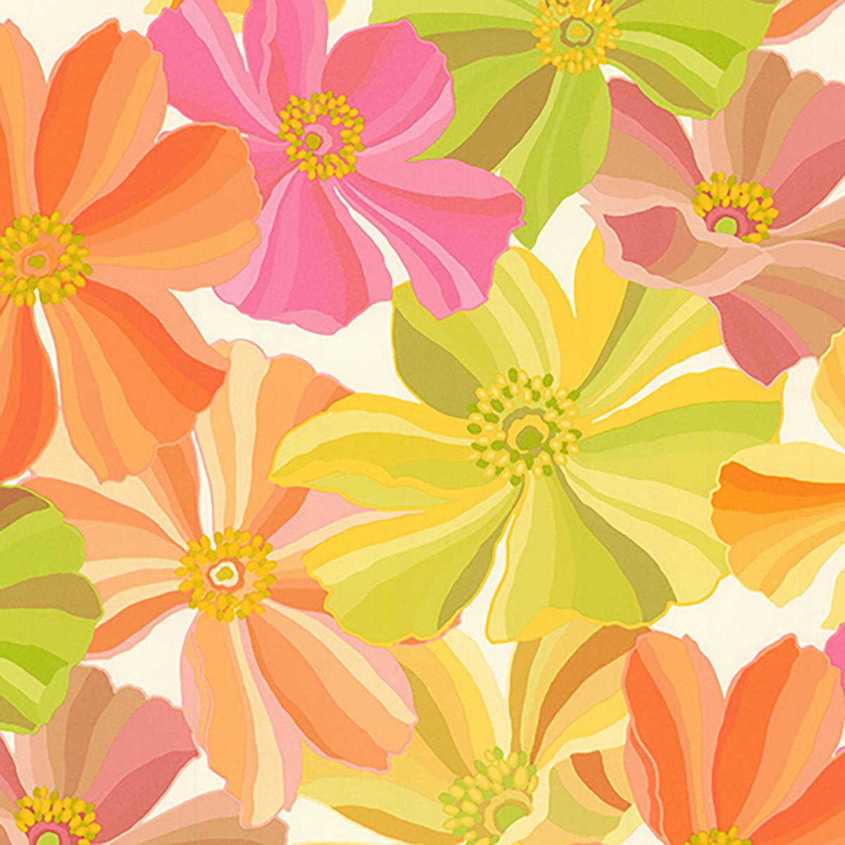 Обои флизелиновые Home Color оранжевые 1.06 м 711-73