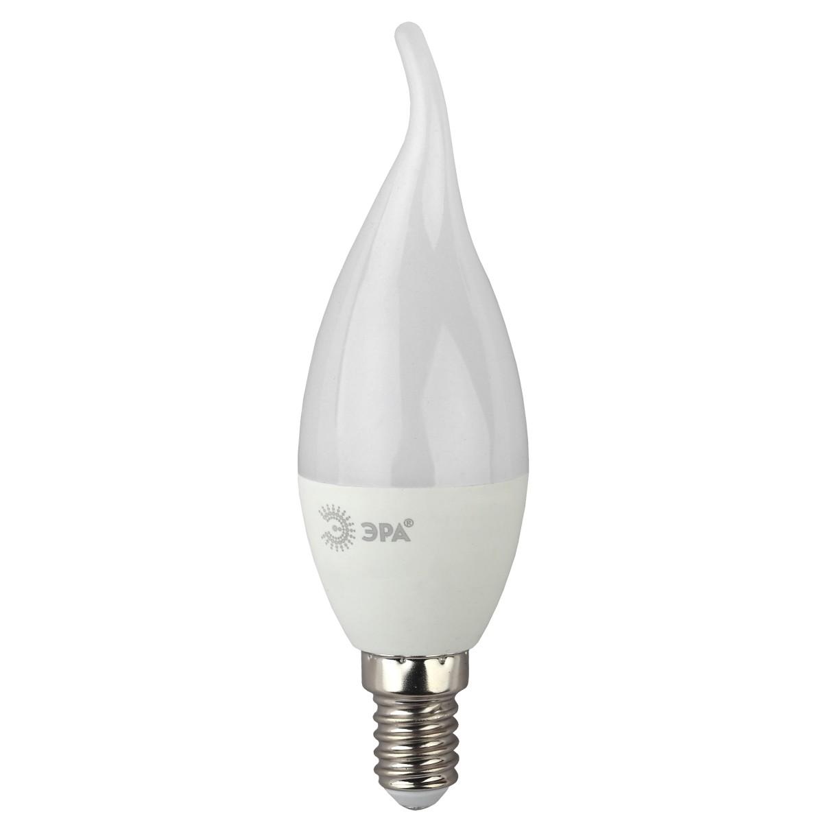 Лампа Эра  E14 5 Вт свеча на ветру 400 Лм нейтральный
