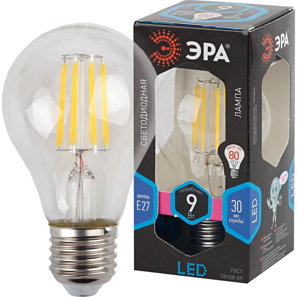 Лампа Эра Светодионая E27 9 Вт Груша 900 Лм Нейтральный Свет