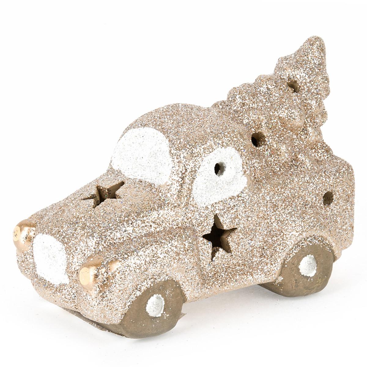 Новогодняя фигура Monte Christmas Машина с елкой 13 см