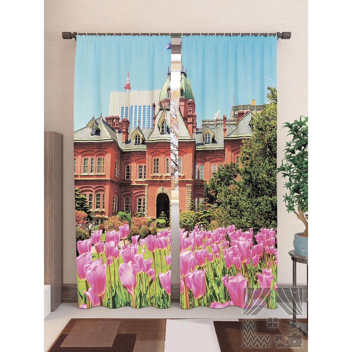 Комплект штор ТомДом Тюльпаны в саду 900502 260 см