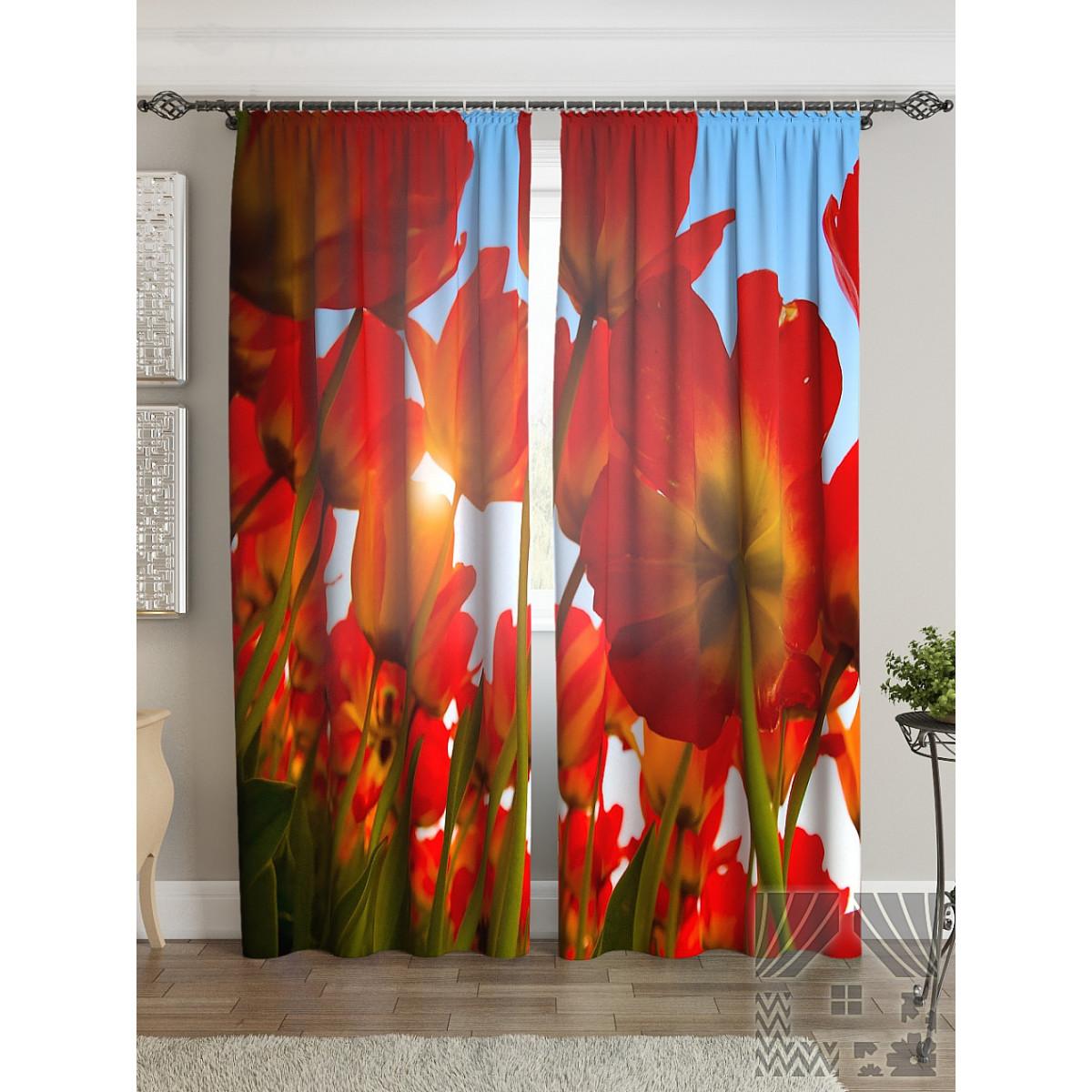 Комплект штор ТомДом Поле тюльпанов 900072 280 см