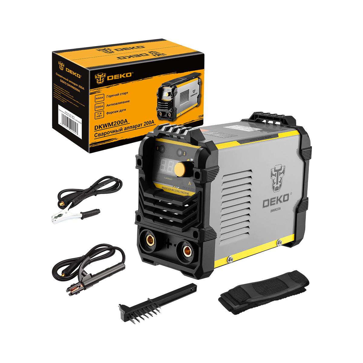 Дуговой сварочный инвертор DEKO DKWM200A 200 А до 5 мм 051-4670