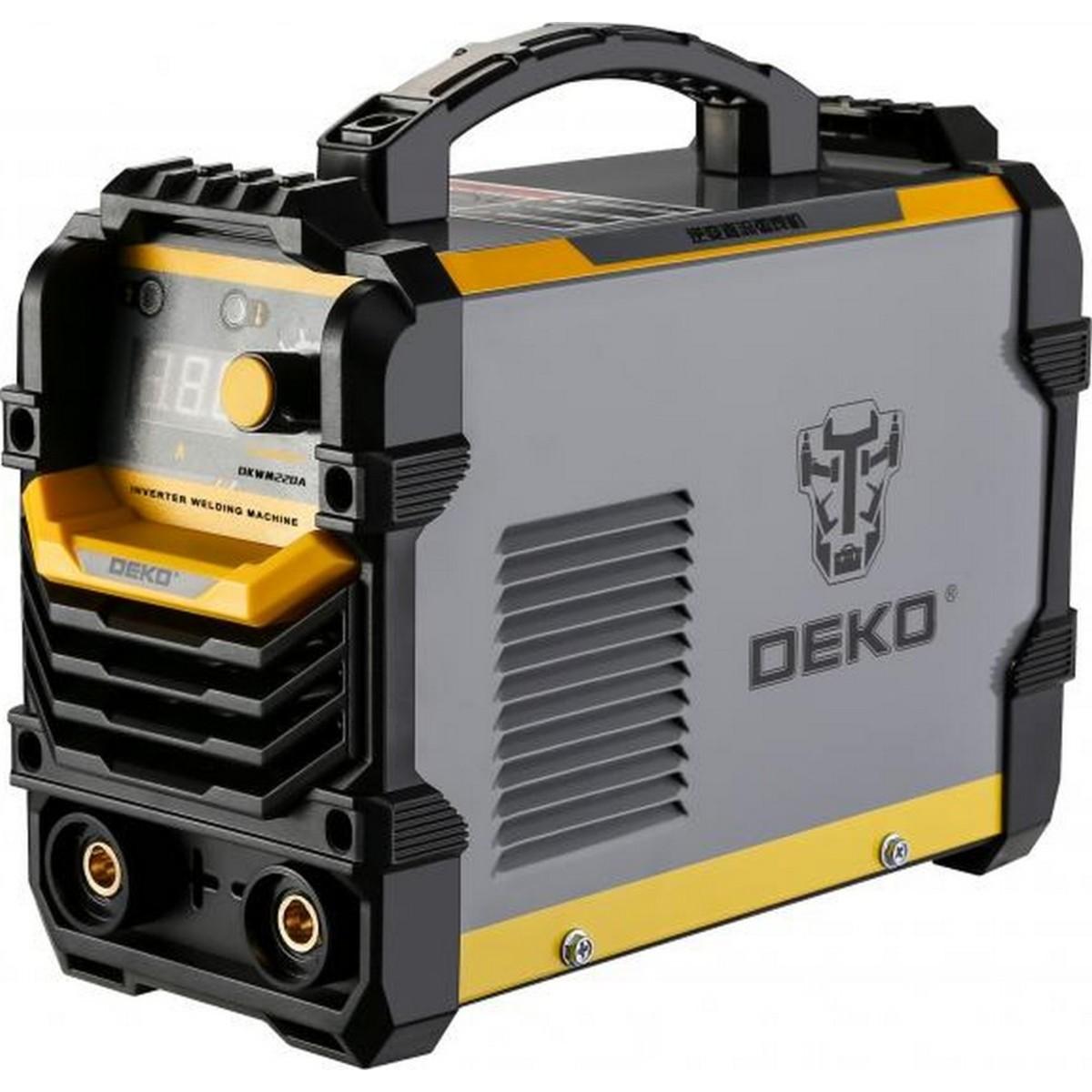 Дуговой сварочный инвертор DEKO DKWM220A 220 А до 5 мм в кейсе 051-4673