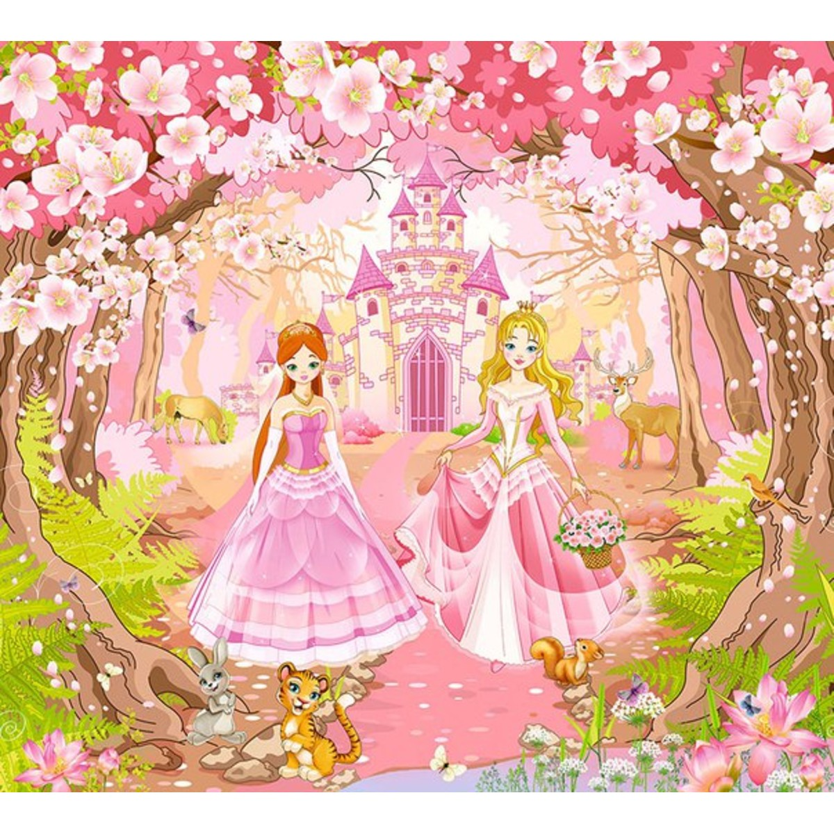 Фотообои DeliceDecor Принцессы Ф 065 300х270 см