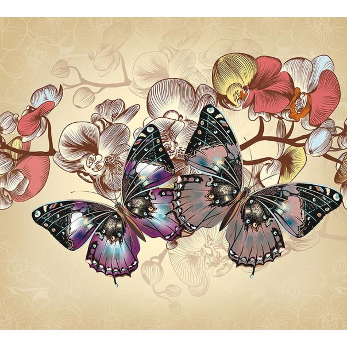 Фотообои DeliceDecor Бабочки Ф 150 300х270 см