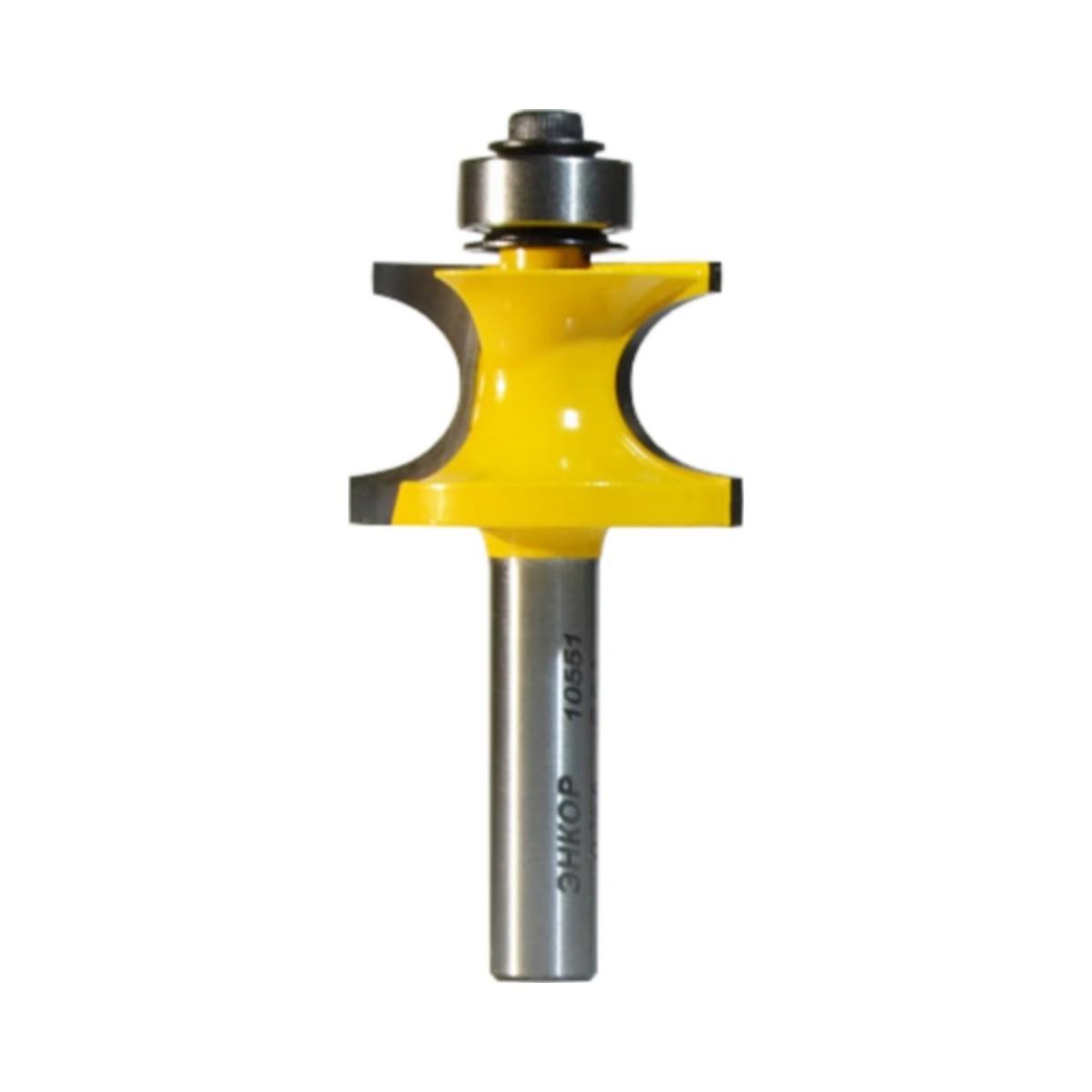 Фреза кромочная полустержневая ЭНКОР 10551 ф28.6 мм R6.3 мм 8 мм