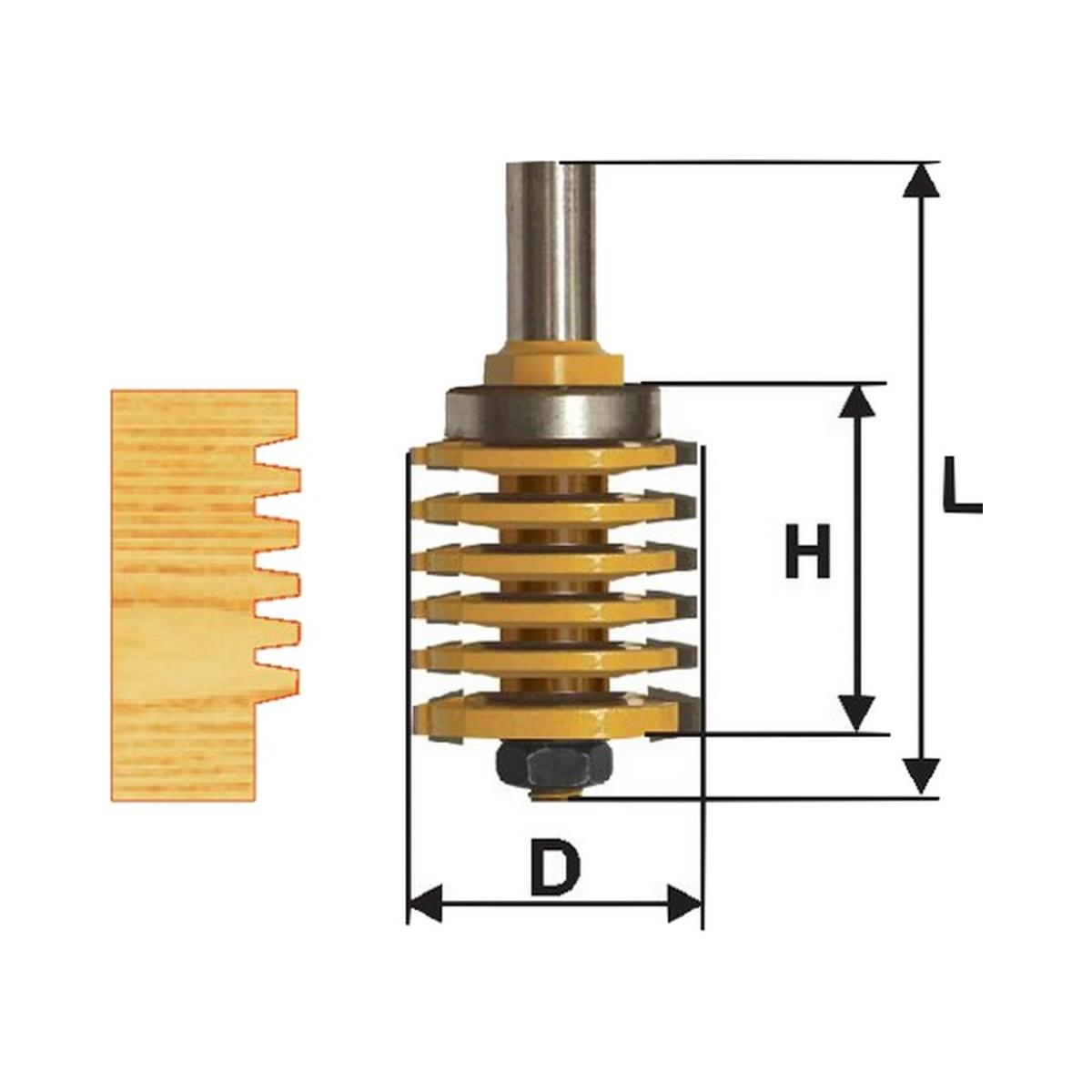 Фреза микрошиповая ЭНКОР ф41х47 мм 12 мм