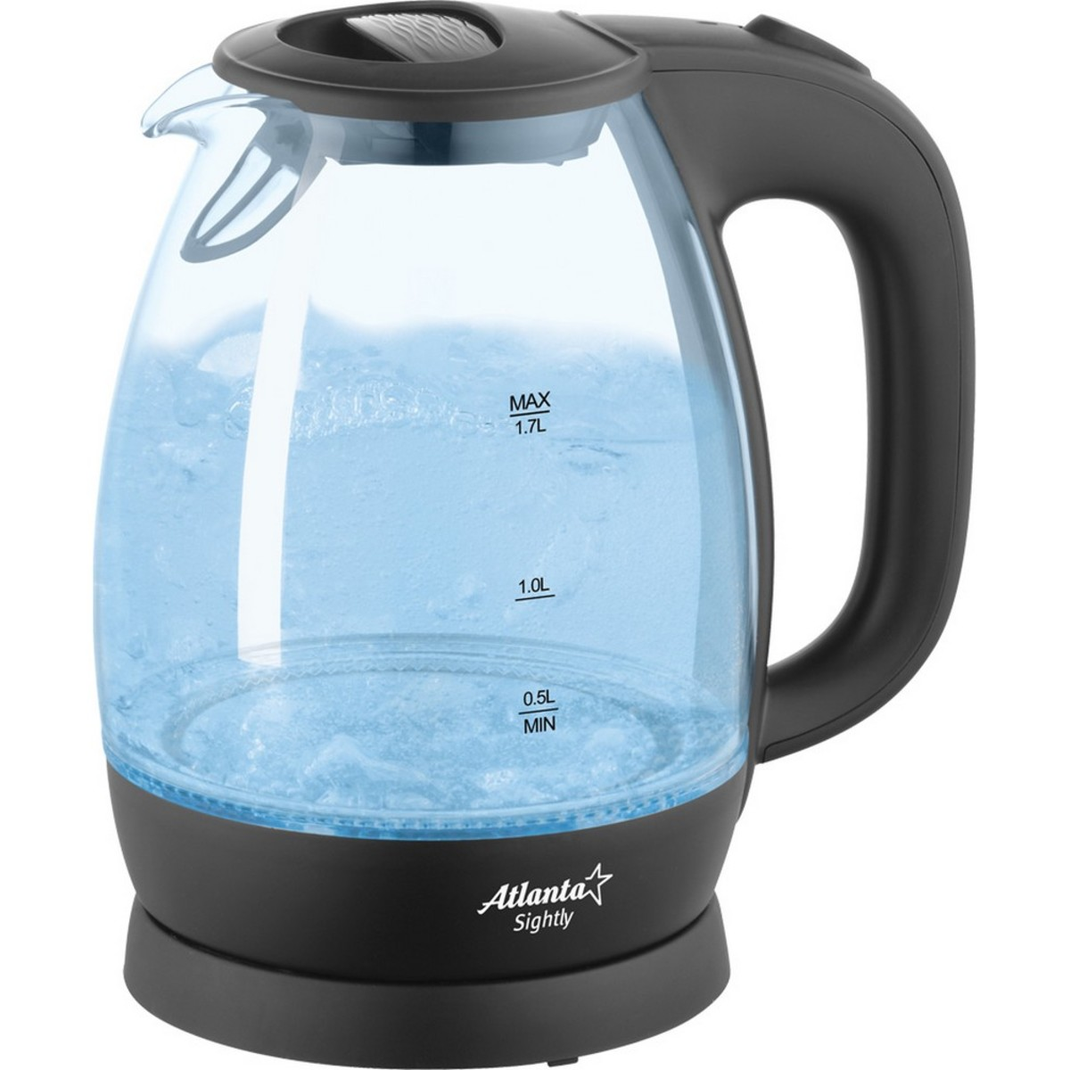 Электрический чайник ATLANTA ATH-2465 (black) 1.5 л