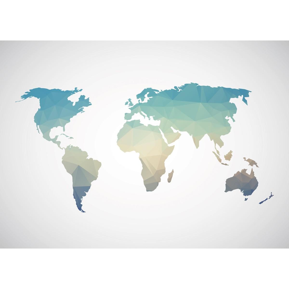 Фотообои WonderWall Градиентная карта 173 280х389см