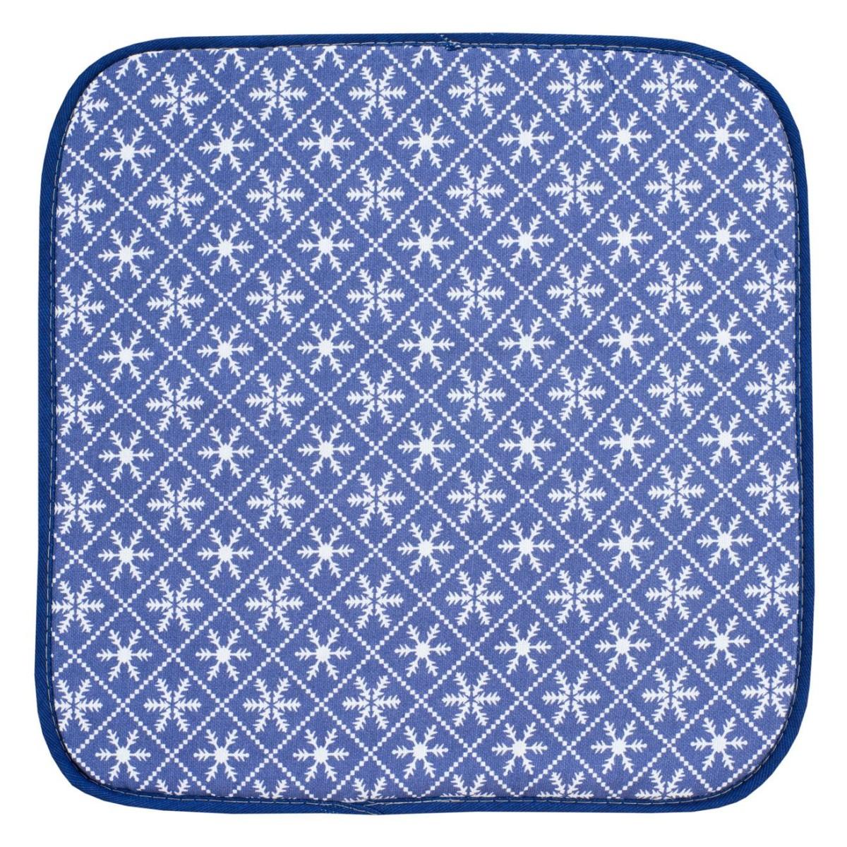 Подушка на стул Guten Morgen Снежинки 40х40 см