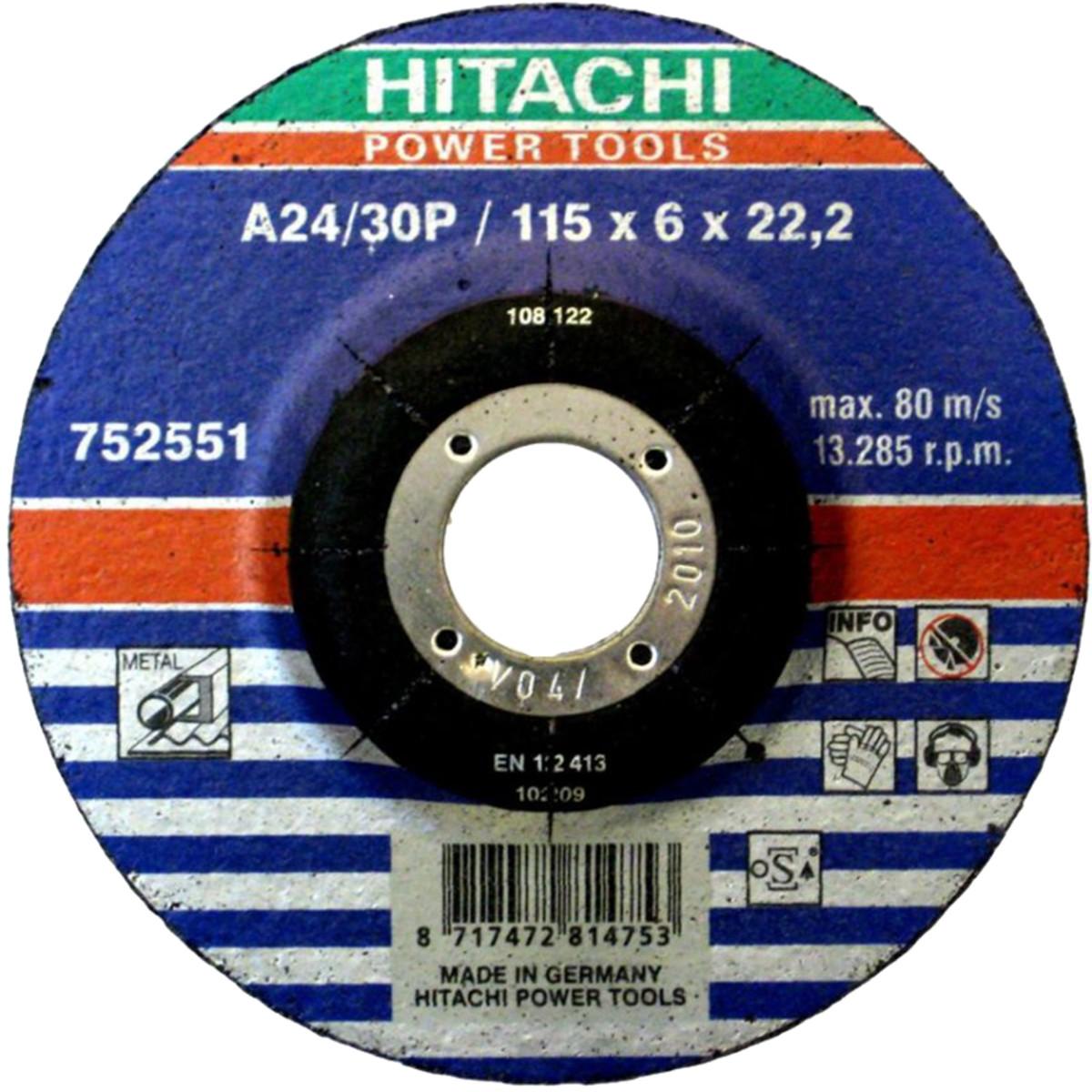 Диск шлифовальный Hitachi 115х6х222