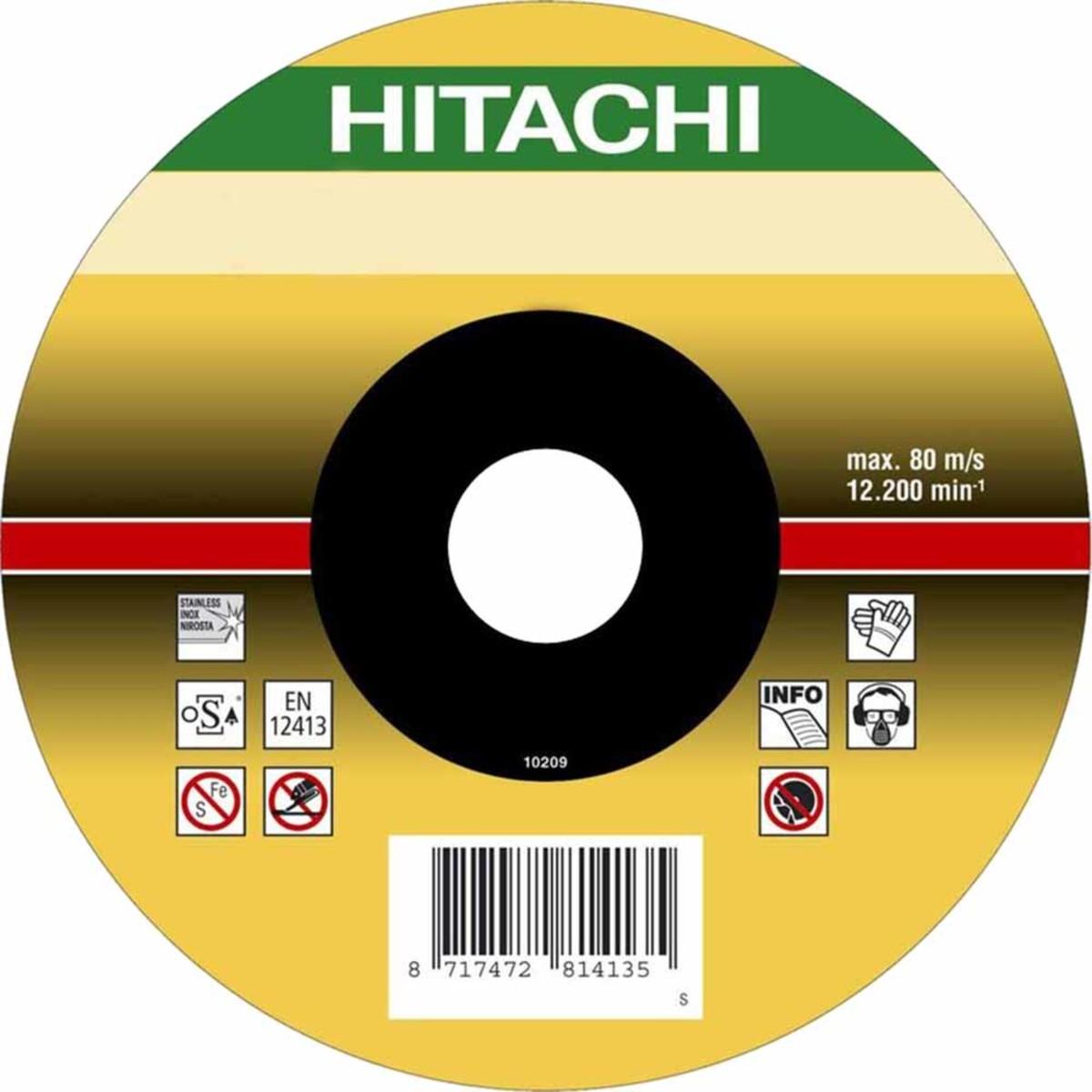 Диск отрезной Hitachi по нер./стали INOX 115х15х222