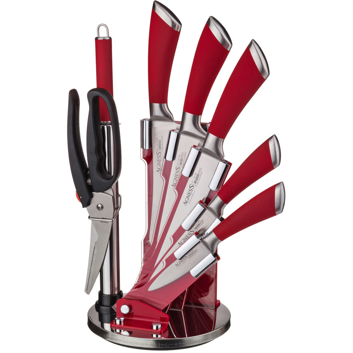 Набор ножей Agness Red Star 911-501