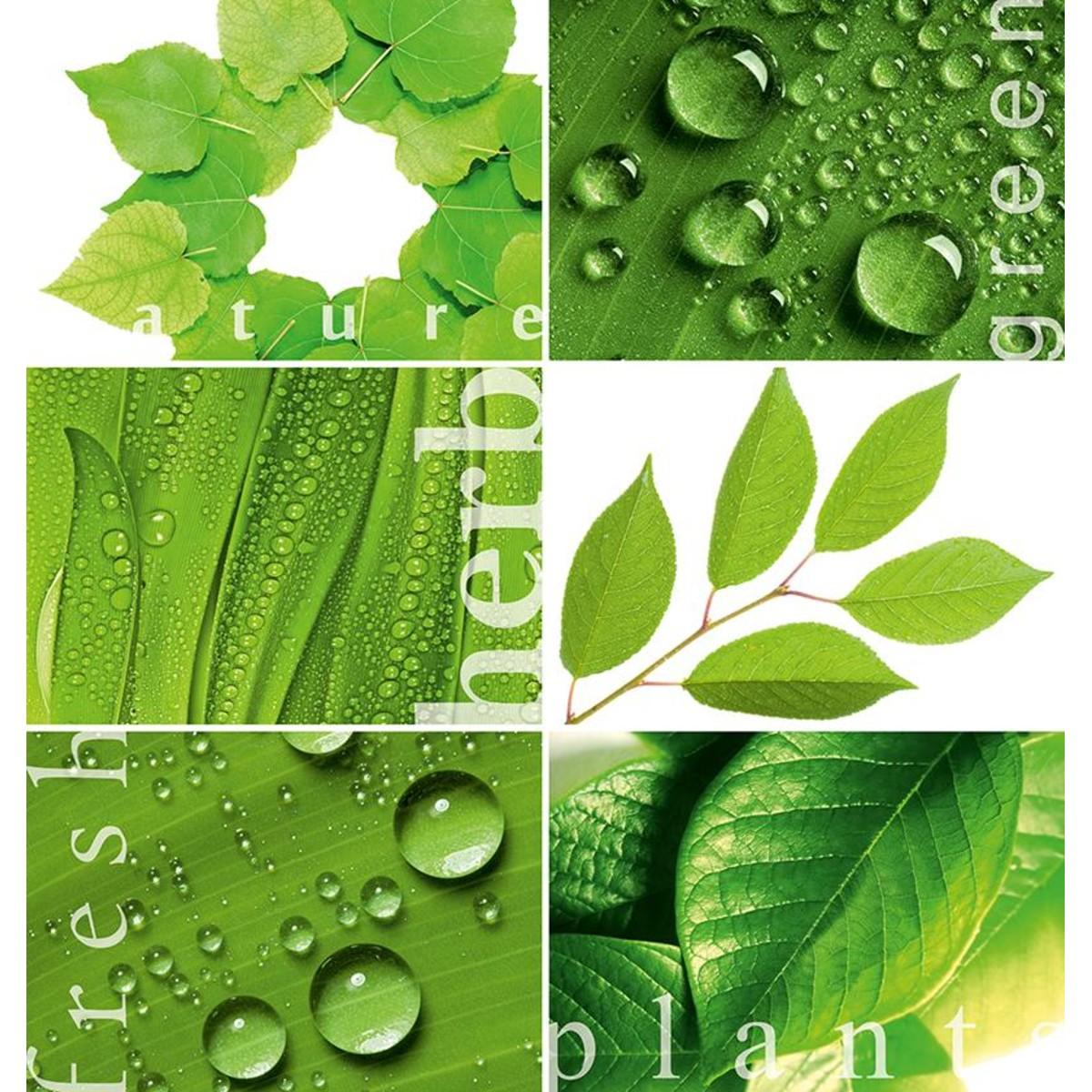 Фотообои Твоя планета Зеленая мозаика 204х194 см