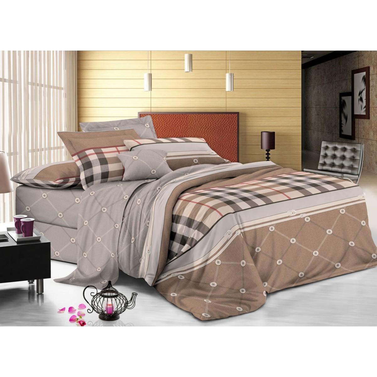 Комплект постельного белья двуспальный Amore Mio Carl 14727 сатин
