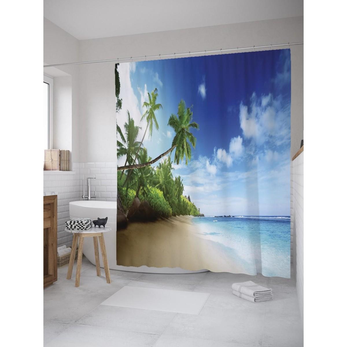 Шторка для ванной Ambesonne Солнечный пляж 180х200 см