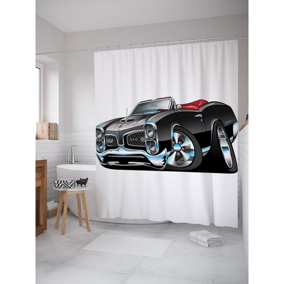 Шторка для ванной Ambesonne Автомобильная фантазия 180х200 см