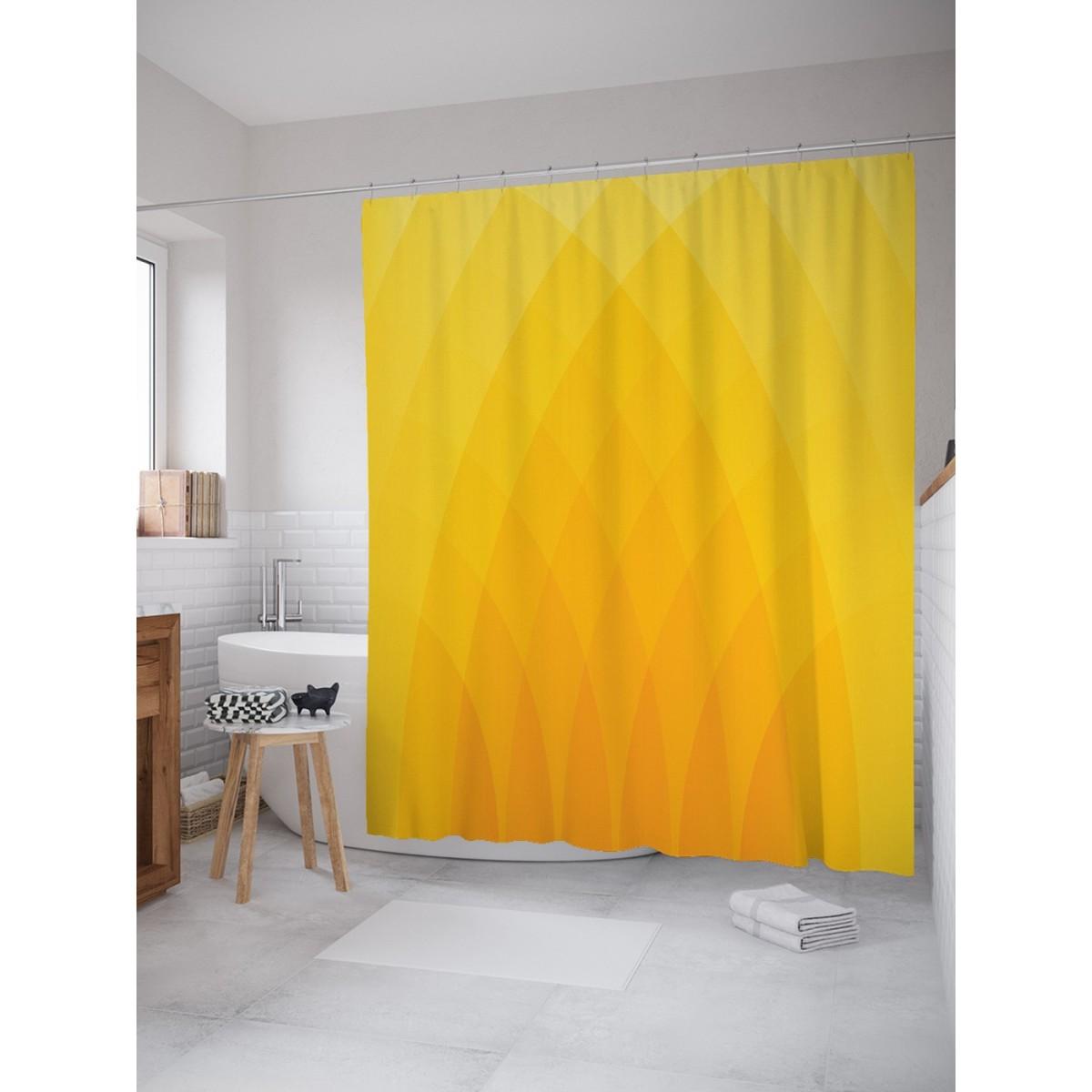 Занавеска для ванной Ambesonne Солнечная декорация 180х200 см