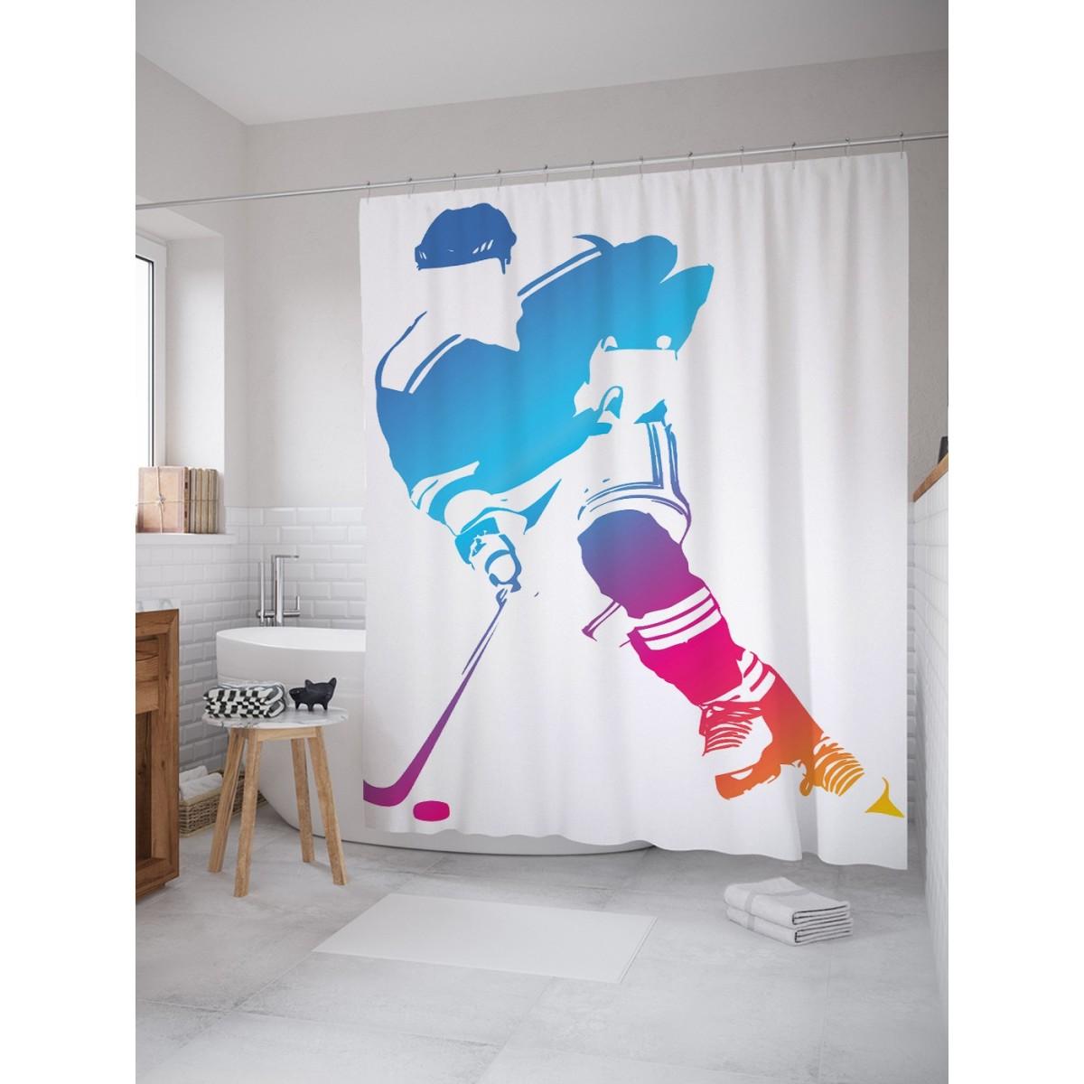 Шторка Для Ванной Хоккейный Облик 180Х200