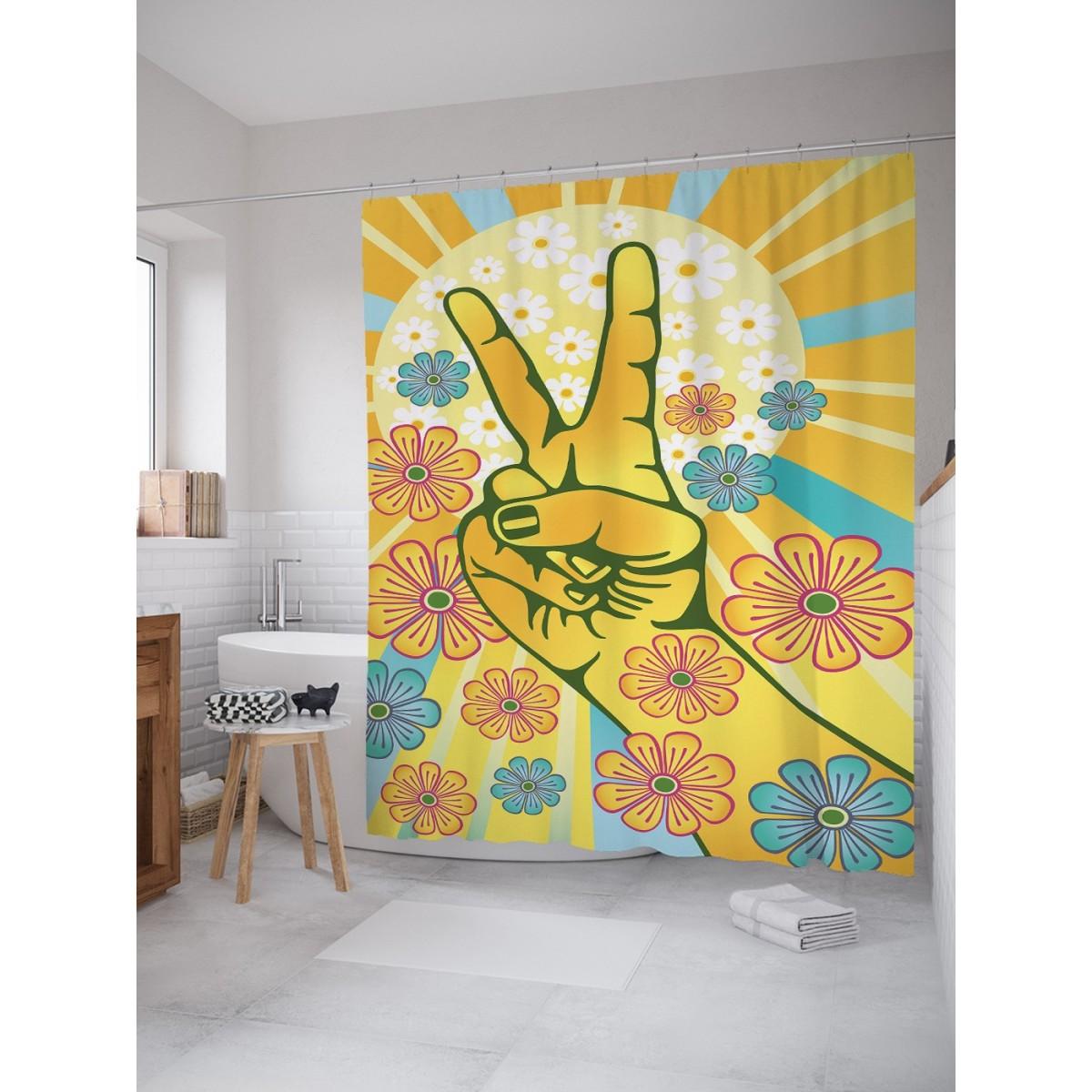 Шторка Для Ванной Цветочный Мир 180Х200