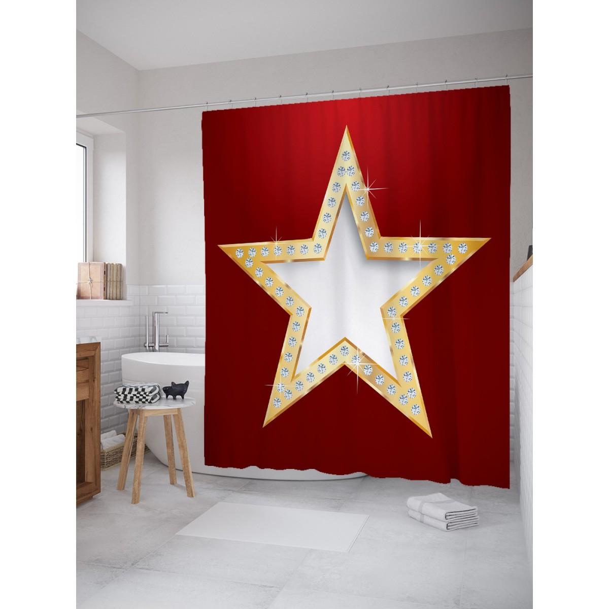 Шторка для ванной Ценная звезда 180х200 см