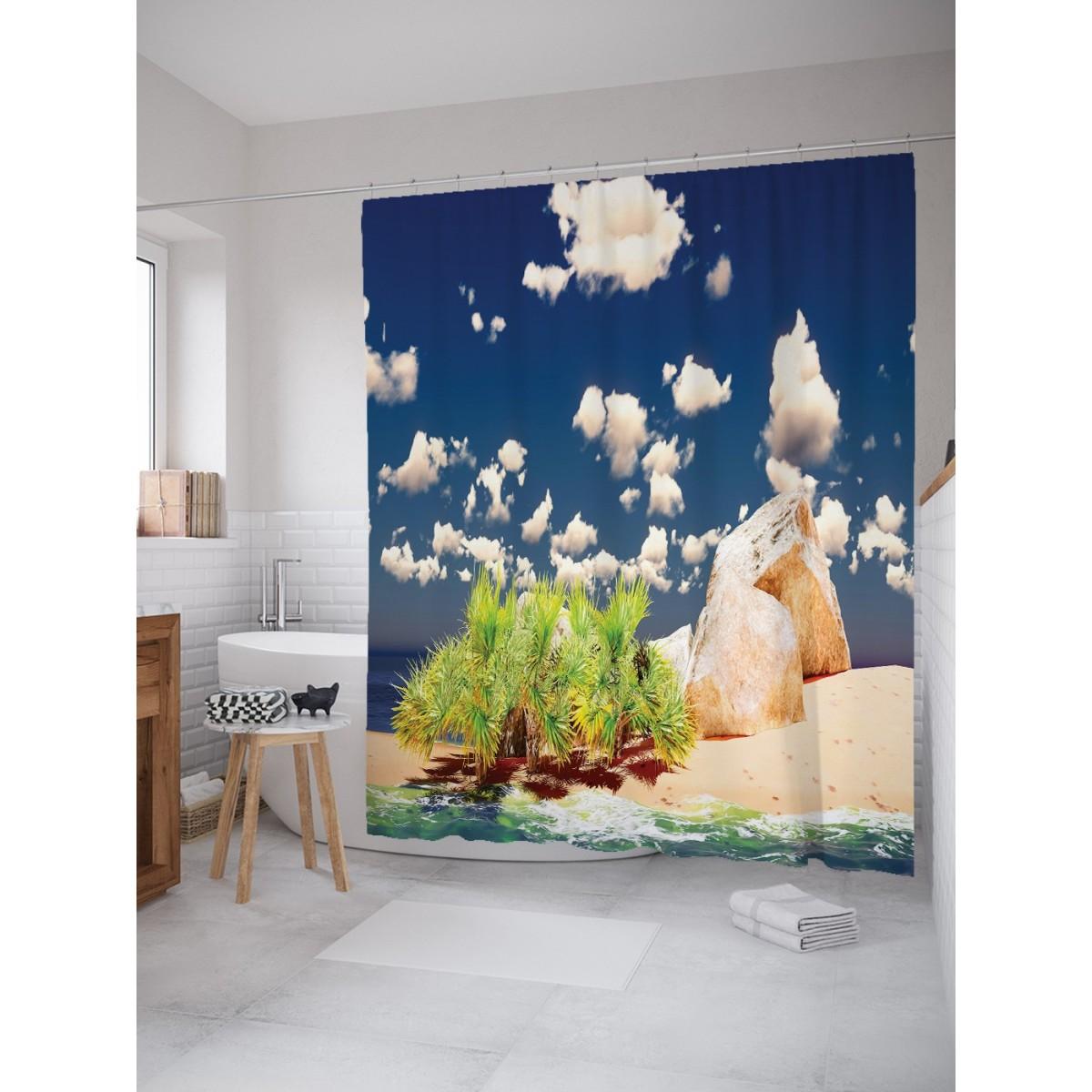 Шторка для ванной Тропический натюрморт 180х200 см