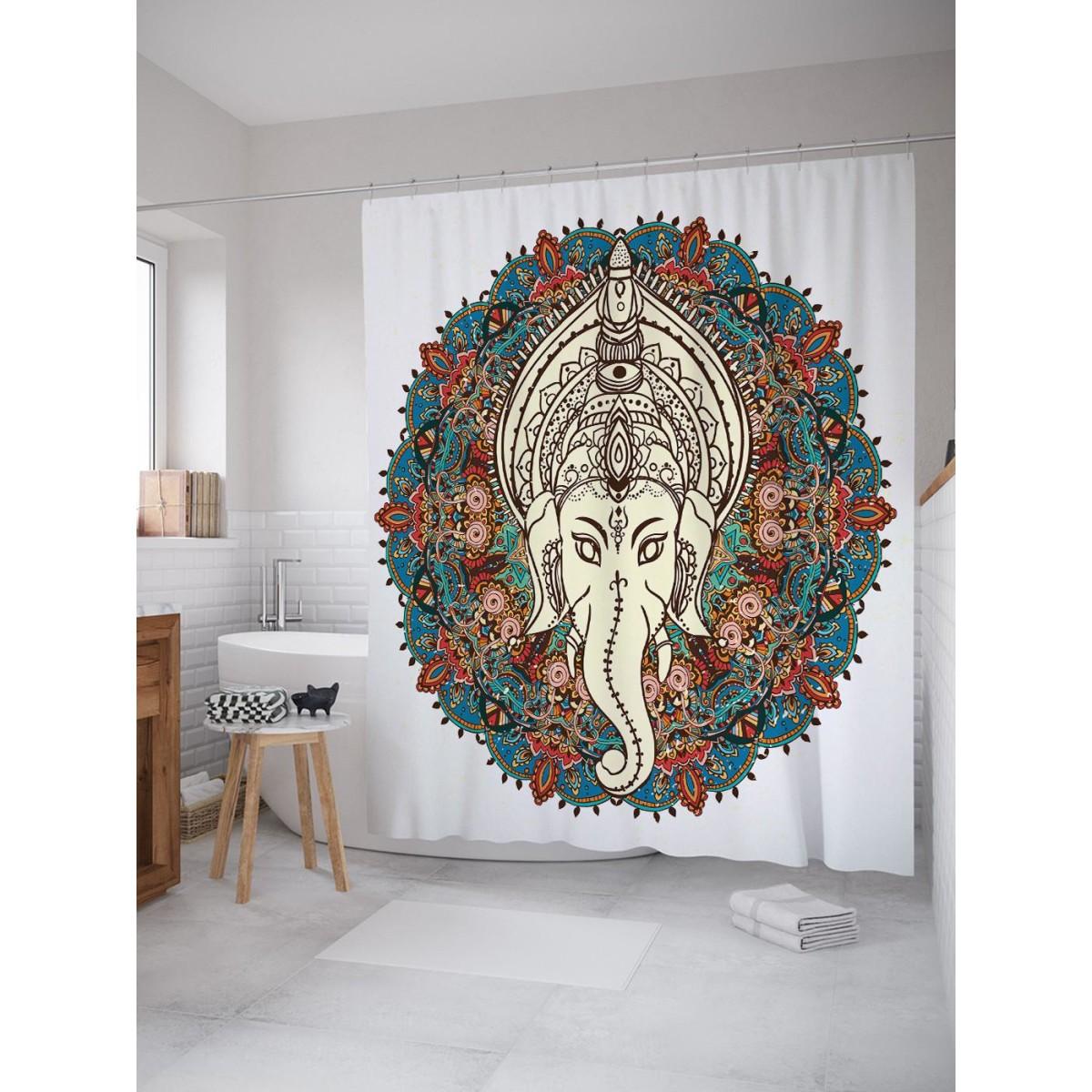 Шторка для ванной Мудрый слон 180х200 см sc_16861